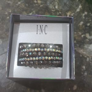 INC Coiled Beaded Rhinestone Bracelet